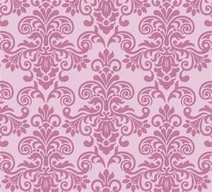 Free Pink Vintage Floral Pattern Background 05 - TitanUI