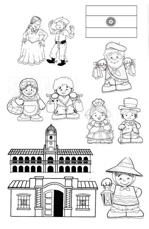 imagenes de vendedores ambulantes de 1810 para colorear