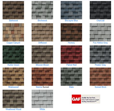 timberline shingles color chart shingle brand and color picker crane roofing