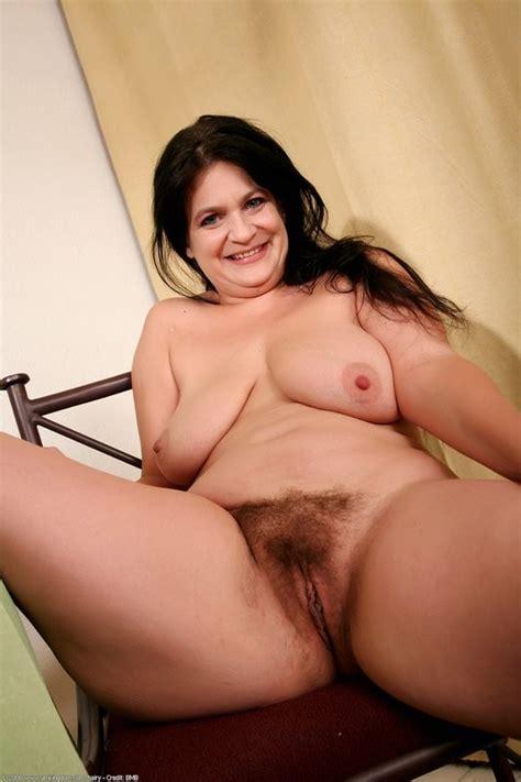 Chubby Hairy Brunette Milf