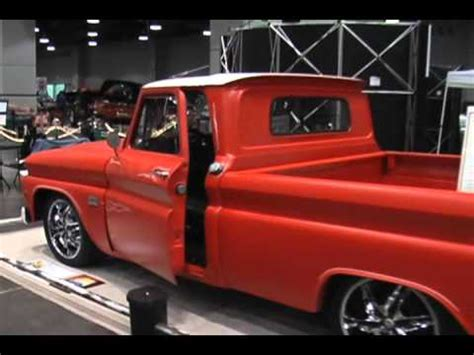 1966 chevy custom flat orange paint