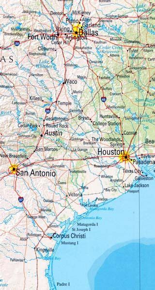Topographical Map Texas Interactive