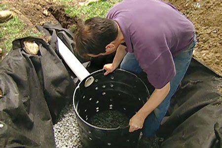 install  dry   divert rain run  gardening backyard drainage yard drainage