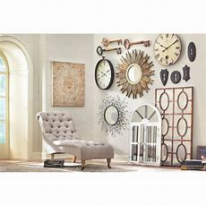 Amaryllis Metal Wall Decor In Distressed Cream0729400440