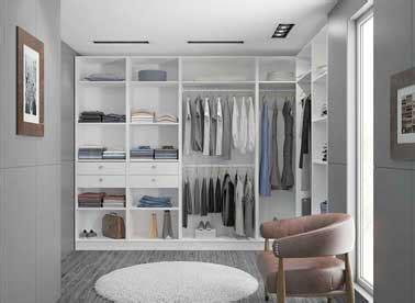 dressing chambre adulte dressing en l dans une grande chambre adulte moderne
