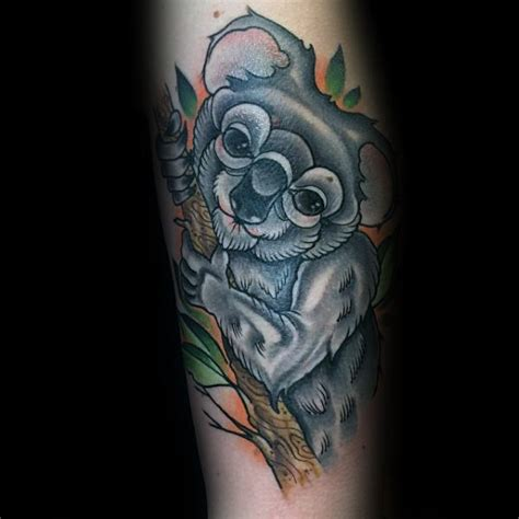 koala tattoo designs  men wild animal ink ideas