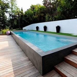 piscines les nouvelles tendances for hemmet ideer och With terrasse piscine semi enterree 2 piscine exterieur 90 photos et idees inspirantes