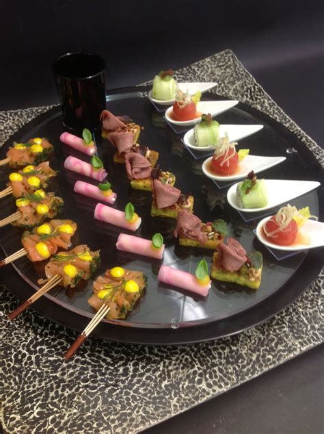 healthy canapes dinner gold and white wedding buffet dinner late snack