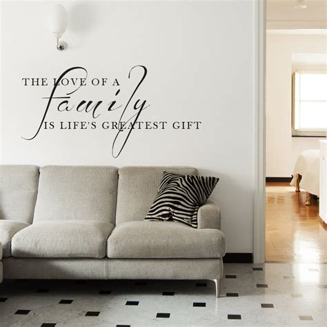 family vinyl quotes living room decor love wall words art