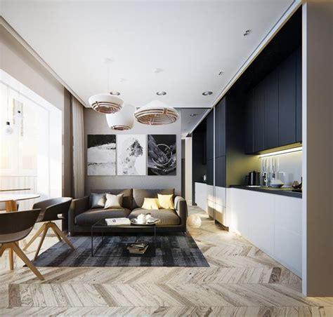 Modern Apartment Ideas, Single Person Studio Design With