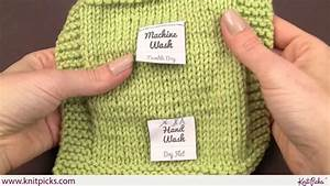 how to sew on care labels youtube With knitting name tags