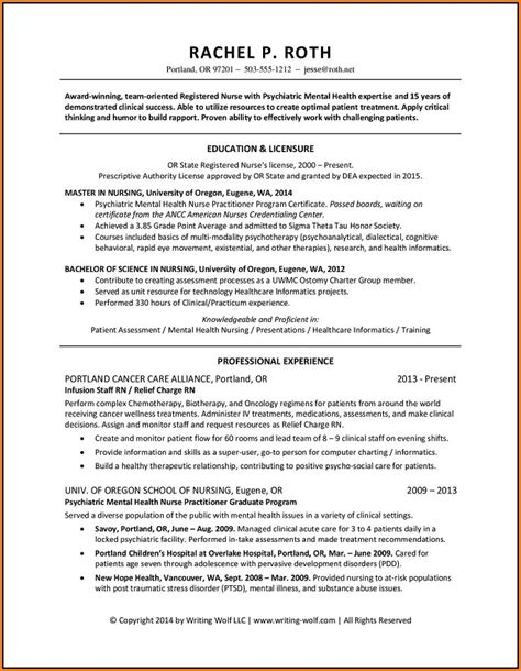 Resume For Registered by Resume For Registered With 1 Year Experience