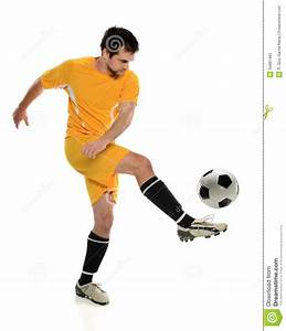 Soccer Player Kicking Ball stock photo. Image of athlete ...