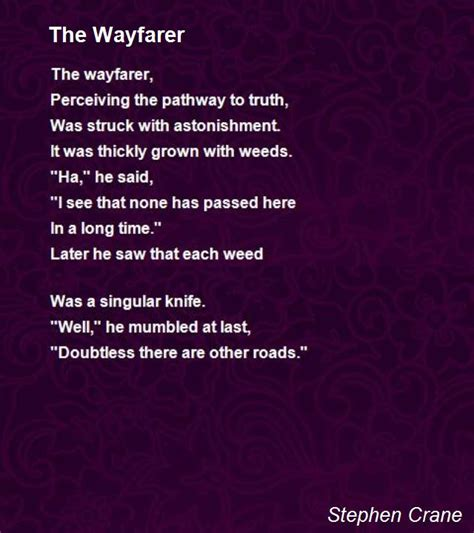 The Open Boat Summary By Stephen Crane by The Wayfarer Poem By Stephen Crane Poem