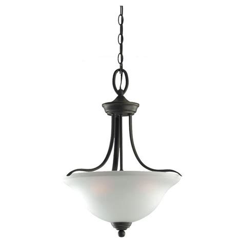 seagull lighting pendant sea gull lighting wheaton 3 light heirloom bronze pendant