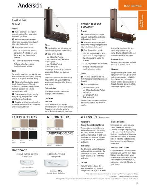 andersen product guide  series window door