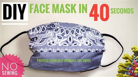 easy steps diy face mask   seconds  sewing