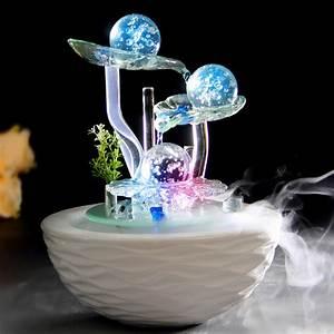 Décoration Feng Shui : water fountain lucky feng shui wheel humidifier home ~ Dode.kayakingforconservation.com Idées de Décoration