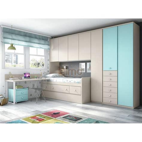 cuisine compacte design chambre enfant compact couchage lit pont et bureau f057