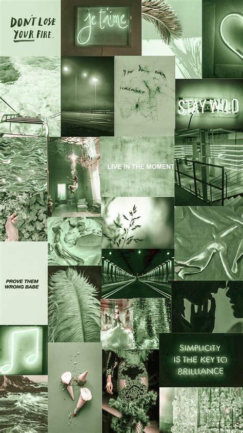 green aesthetic wallpaper background collageart