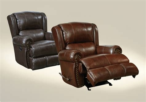 grain leather recliner catnapper duncan top grain leather touch power deluxe lay