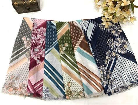 scarf shawl print hijab flower wrap cotton bohemian style