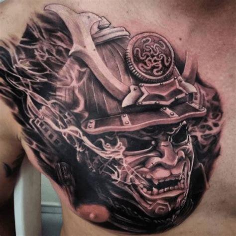 samurai chest tattoos designs