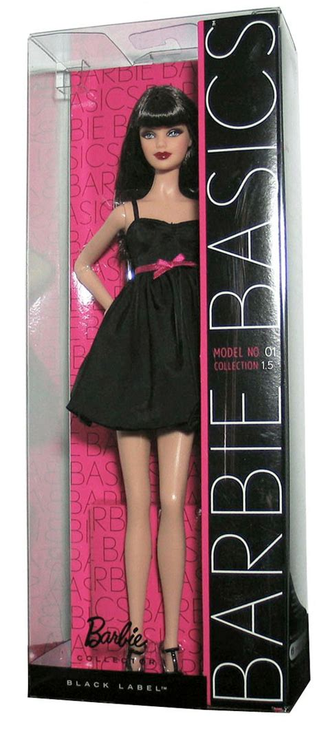 barbie basics doll black dress muse model