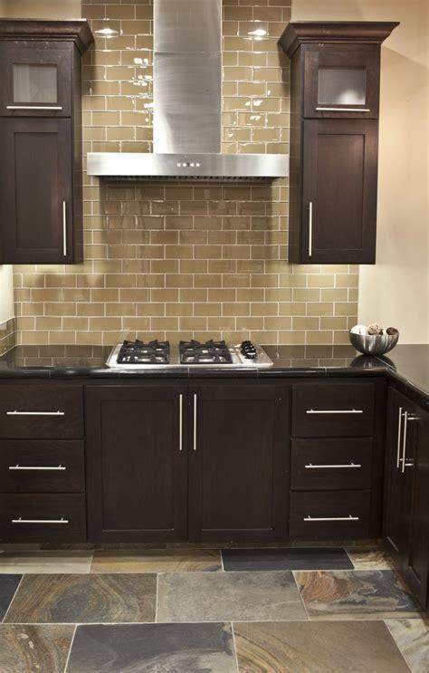 Updating Kitchen Tile Backsplash by Chagne Glass Subway Tile Grey Kitchen Walls Subway