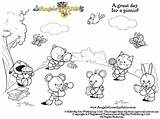 Outsiders Attic Picnic Angels Coloring sketch template