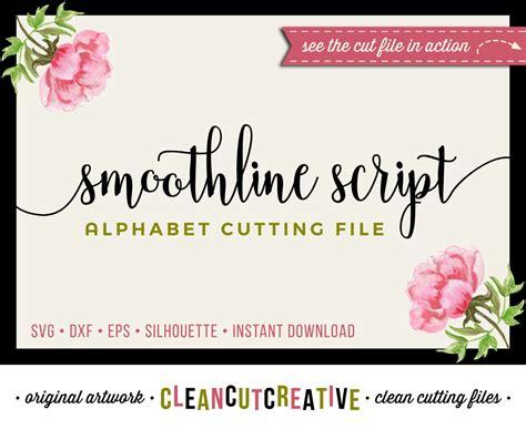 full alphabet svg fonts cutfile modern handwritten script