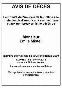 Avis De Deces Epinal : avis de d c s amicale de la colline ~ Dailycaller-alerts.com Idées de Décoration