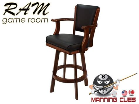 Cushioned Bar Stools With Arms by Bar Stool With Arms Padded Vinyl Seat Back Tudor