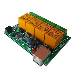 Usb Four Relay Module Board For Home Automation Ebay