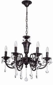 Lustre Metal Noir : lustre pampilles m tal noir antique 6 clairages luminaires ~ Teatrodelosmanantiales.com Idées de Décoration
