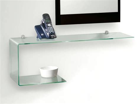 mensole ingresso mensola consolle in vetro sagomata flexi