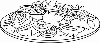 Salad Fruit Coloring Pages