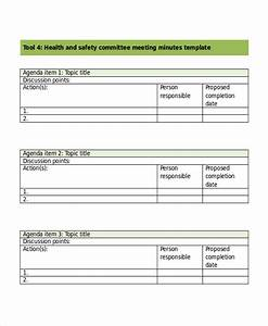 image gallery health and safety minute With health and safety committee meeting agenda template