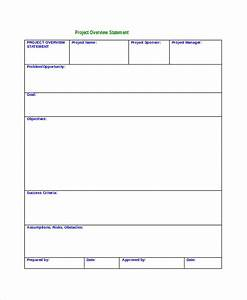 project scope statement template 7 project overview templates free word pdf documents