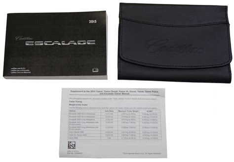 old car repair manuals 2010 cadillac escalade esv engine control 2015 cadillac escalade esv us owners manual book w leather case new 23248420 factory oem parts