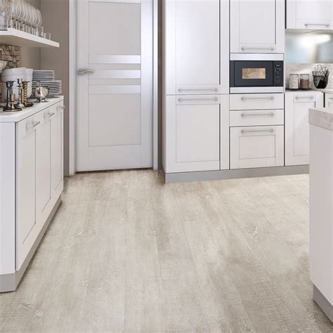 kitchen and bathroom laminate flooring white oak effect waterproof luxury vinyl click 7664