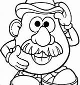 Nose Coloring Pages Potato Mr Head Printable Getdrawings Getcolorings sketch template