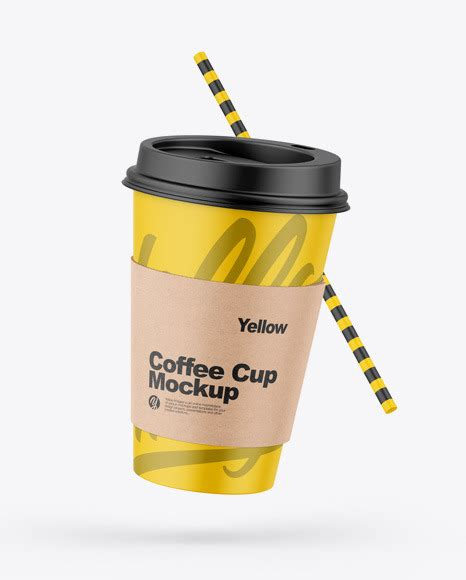 Create interesting presentations with our free mockup. Matte Coffee Cup W/ Straw Mockup | Exclusive Mockups