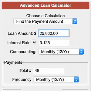 Annual Payment Formula Advanced Loan Calculator
