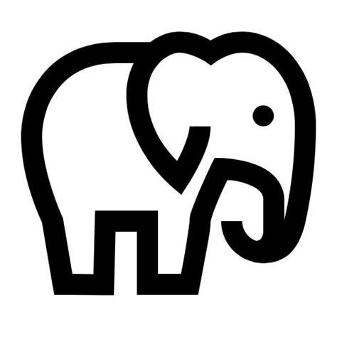 elephant icon desenhos preto  branco desenhos