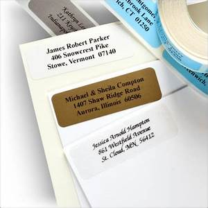 Traditional address labels traditional self stick return for Custom mailing stickers