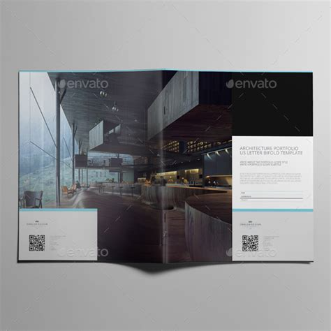 Architecture Portfolio Us Letter Bifold Template By Keboto