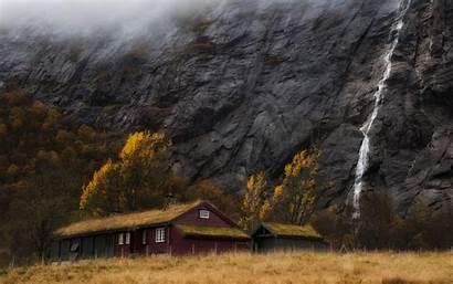 Norway Stavanger Waterfalls Wallpapers Forest Travel Pine