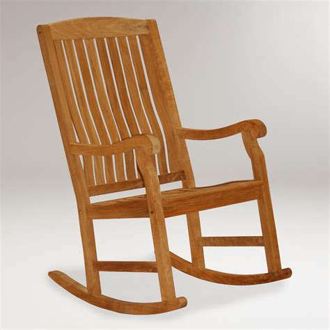 teak rocking chair world market