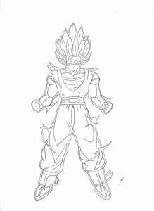 How to draw SUPER GOKU SSJ2